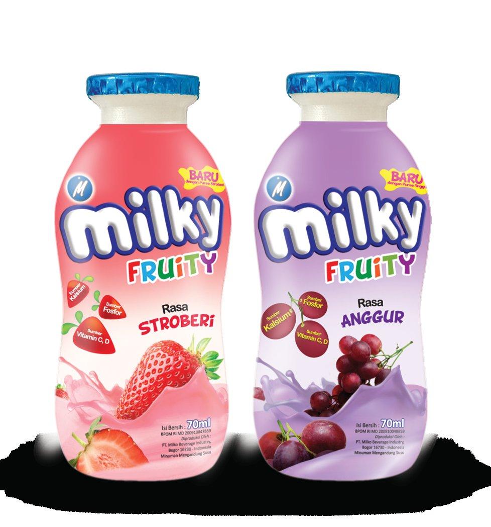 Jual Milko Milky Fruity Strawberry Minuman Susu 70 mL 10 botol Source. Milky .