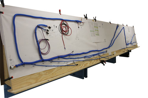 Industrial Crane Chassis Harness On Wire Board